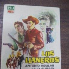 Cine: PROGRAMA DE CINE S/P. LOS LLANEROS.. Lote 128417519