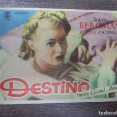 Cine: PROGRAMA DE CINE S/P. DESTINO.. Lote 128419035