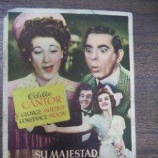 Cine: PROGRAMA DE CINE S/P. SU MAJESTAD LA FARSA.. Lote 128419799