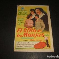 Cine: EL NIÑO DE LAS MONJAS PROGRAMA DE MANO 1961. Lote 128430531