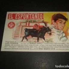 Cine: EL ESPONTANEO PROGRAMA DE MANO . Lote 128431735