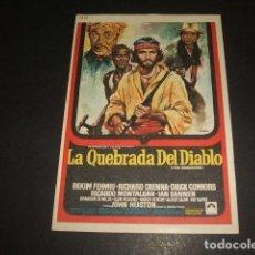 Cine: LA QUEBRADA DEL DIABLO PROGRAMA DE MANO . Lote 128431919