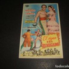Cine: EL SIGNO DEL RENEGADO PROGRAMA DE MANO . Lote 128431975