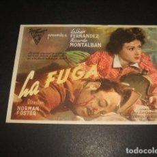Cine: LA FUGA PROGRAMA DE MANO . Lote 128432011