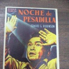 Cine: PROGRAMA DE CINE S/P. NOCHE DE PESADILLA.. Lote 128434611