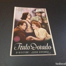 Cine: PROGRAMA DE MANO ORIG - FRUTO DORADO - CINE DE MOLLERUSA. Lote 128442063