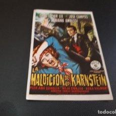 Cine: PROGRAMA DE MANO ORIG - LA MALDICIÓN DE OS KARNSTEIN - CINE DE TARRAGONA . Lote 128444087