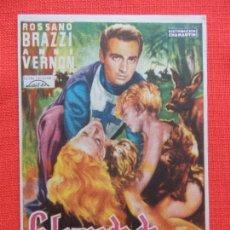 Cine: LA LEYENDA DE GENOVEVA, SENCILLO, EXCTE. ESTADO, ROSSANO BRAZZI, CON PUBLI SALA REUS 1953. Lote 128451279