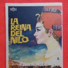 Cine: LA REINA DEL NILO, SENILLO EXCTE. ESTADO JEANNE CRAIN VINCENT PRICE, C/PUBLI RUBI CINEMA 1967. Lote 128453063