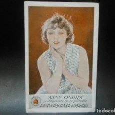 Cine: 1931 LA MUCHACHA DE LONDRES - ANNY ONDRA PROGRAMA DE CINE CON PUBLICIDAD TEATRO VICTORIA EUGENIA. Lote 128467111