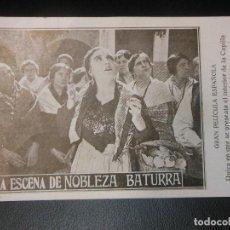 Cine: NOBLEZA BATURRA VIRGEN DEL PILAR ZARAGOZA PROGRAMA DE CINE TEATRO TIVOLI BARCELONA. Lote 128467395