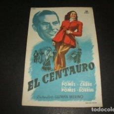 Cine: EL CENTAURO PROGRAMA DE MANO . Lote 128471879