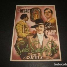 Cine: SEDA SANGRE Y SOL JORGE NEGRETE PROGRAMA DE MANO . Lote 128472243
