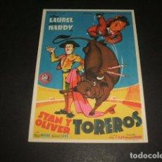 Cine: STAN Y OLIVER TOREROS PROGRAMA DE MANO . Lote 128472943