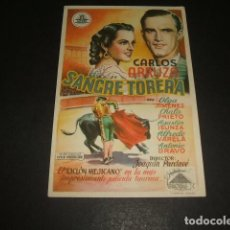Cine: SANGRE TORERA PROGRAMA DE MANO . Lote 128473155