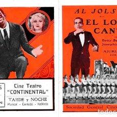 Cine: EL LOCO CANTOR (THE SINGING FOOL) DE LLOYD BACON, CON AL JOLSON, . Lote 128473639