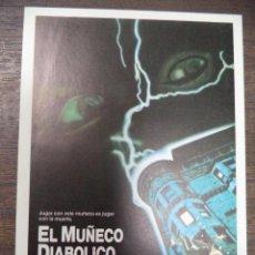 Cine: PROGRAMA DE CINE S/P. EL MUÑECO DIABOLICO.. Lote 128506275