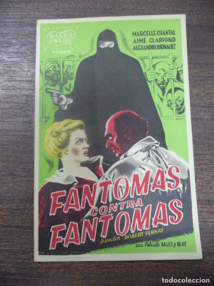 PROGRAMA DE CINE S/P. FANTOMAS CONTRA FANTOMAS. (Cine - Folletos de Mano - Terror)