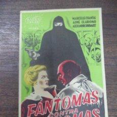 Cine: PROGRAMA DE CINE S/P. FANTOMAS CONTRA FANTOMAS.. Lote 128506927