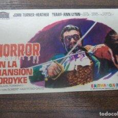 Cine: PROGRAMA DE CINE S/P. HORROR EN LA MANSION FORDYKE.. Lote 128509287