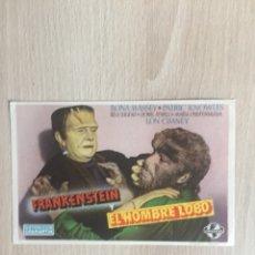 Cine: PROGRAMA DE MANO. CINE. FRANKENSTEIN Y EL HOMBRE LOBO.. Lote 128529910