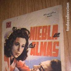 Cine: NIEBLA EN LAS ALMAS. PUBLICIDAD DE CINE DE VALENCIA AL DORSO. Lote 128568919