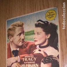 Foglietti di film di film antichi di cinema: MAR DE HIERBA. PUBLICIDAD DE CINE DE VALENCIA AL DORSO. Lote 128568975