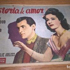 Cine: HISTORIA DE AMOR. PUBLICIDAD DE CINE DE VALENCIA AL DORSO. Lote 128569071