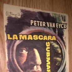 Cine: LA MÁSCARA SUBMARINA. PUBLICIDAD DE CINE DE VALENCIA AL DORSO. Lote 128569579