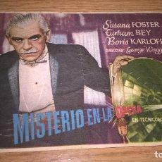 Cine: MISTERIO EN LA ÓPERA. PUBLICIDAD DE CINE DE VALENCIA AL DORSO. Lote 128569683