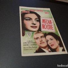 Cine: PROGRAMA DE MANO ORIG - MEDIANOCHE - CINE DE ALCIRA . Lote 128647967