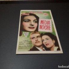 Cine: PROGRAMA DE MANO ORIG - MEDIANOCHE - CINES DE SANTS . Lote 128649303