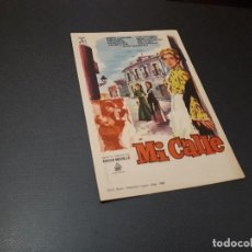 Cine: PROGRAMA DE MANO ORIG - MI CALLE - CINE DE CASTELLON. Lote 128649459