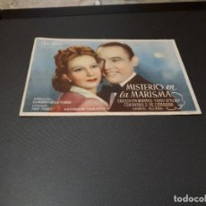 Cine: PROGRAMA DE MANO ORIG - MISTERIO EN LA MARISMA - CINE DE CARCAGENTE. Lote 128649619