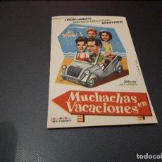 Cine: PROGRAMA DE MANO ORIG - MUXHACHAS DE VACACIONES - CINE DE FELANITX. Lote 128650087
