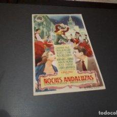 Cine: PROGRAMA DE MANO ORIG - NOCHES ANDALUZAS S - CINE DE ALCOY. Lote 128650243