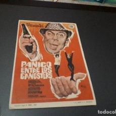 Cine: PROGRAMA DE MANO ORIG - PANICO ENTRE LOS GANGSTERS - CINE DE NAVAS . Lote 128652387
