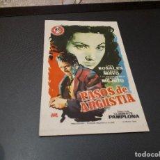 Cine: PROGRAMA DE MANO ORIG - PASOS DE ANGUSTIA - CINE DE SANTANDER . Lote 128652591