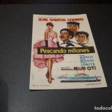 Cine: PROGRAMA DE MANO ORIG - PESCANDO MILLONES - CINE DE VALENCIA. Lote 128652979