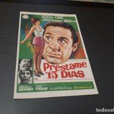 Cine: PROGRAMA DE MANO ORIG - PRESTAME 15 DÍAS - CINE DE VALENCIA . Lote 128653763