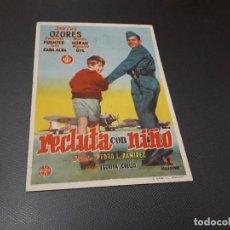 Cine: PROGRAMA DE MANO ORIG - RECLUTA CON NIÑO - CINE DE VALENCIA . Lote 128654151