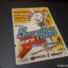 Cine: PROGRAMA DE MANO ORIG - SECRETARIA PARA TODO - CINE DE PALAMOS . Lote 128654723
