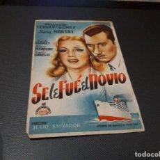 Cine: PROGRAMA DE MANO ORIG - SE LE FUE EL NOVIO - CINE VICTORIA. Lote 128655019