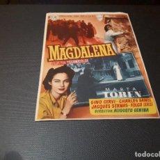 Cine: PROGRAMA DE MANO ORIG - MAGDALENA - CINE DE BLANES. Lote 128669223