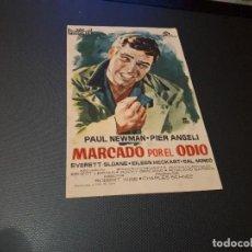 Cine: PROGRAMA DE MANO ORIG - MARCADO POR EL ODIO - CINE DE ALCIRA. Lote 128669335