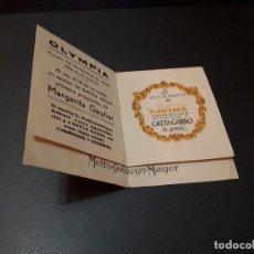 Cine: PROGRAMA DE MANO ORIG DOBLE - MARGARITA GAUTIER - CINE OLYMPIA 1939. Lote 128669519