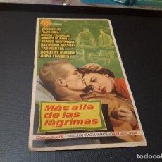 Cine: PROGRAMA DE MANO ORIG - MAS ALLA DE LAS LÁGRIMAS - CINE KURSAAL. Lote 128669595