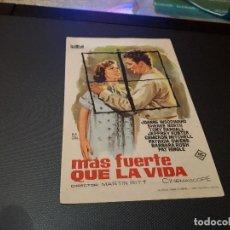 Cine: PROGRAMA DE MANO ORIG - MAS FUERTE QUE LA VIDA - CINE DE ALICANTE. Lote 128669671