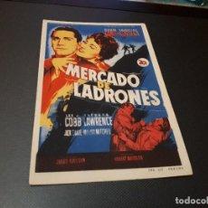 Cine: PROGRAMA DE MANO ORIG - MERCADO DE LADRONES - CINE DE VALENCIA. Lote 128669859
