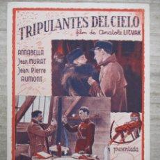 Cine: TRIPULANTES DEL CIELO IMPECABLE PUBLICIDAD EN EL DORSO CINEMA CAPITOL 1938 IMPECABLE. Lote 128687983